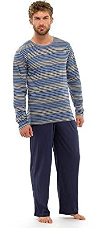 Mens Pyjama Set Long Sleeve Top & Pants HT337M