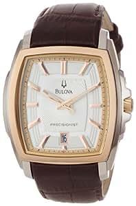 Bulova Men's 98B150 Precisionist Two-Tone Tonneau Strap Watch
