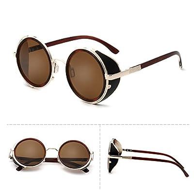 LXKMTYJ Visage rond sauvages modernes Lunettes rétro élégant Concept Rue de  la personnalité des lunettes noires a2dcd76d684a