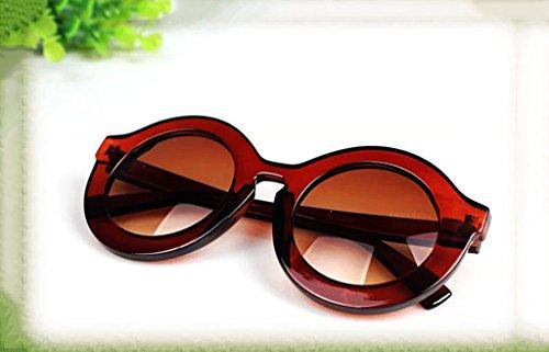 de de de amp;Gafas onda protecciónn Marco gafas coreano sol de retro de de punto coreano gafas Marco redondo moda punto gran de de grande sol Visor amp; de 4 2 oscilación LYM mujer Color wvf5q65
