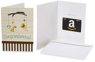 Amazon.com $100 Gift Card in a Greeting Card (New Baby Congratulations Design) (B00X0IL5ZS) | Amazon price tracker / tracking, Amazon price history charts, Amazon price watches, Amazon price drop alerts