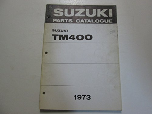 1973 Suzuki TM400 Parts Catalog Manual FADED STAINED WORN