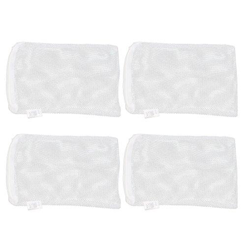 Uxcell 4 Piece Nylon Aquarium Filter Me Isolation Net Bag, 21 x 15cm, White