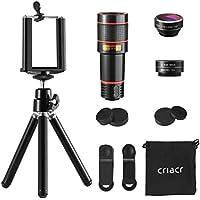 Criacr Phone Camera Lens, 12X Zoom Telephoto Lens +...