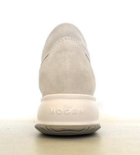 Hogan scarpe donna interactive allacciata modello HXW00N00010H1LB001 panna