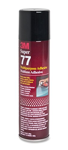 Metal 3m Glue (3M SUPER 77 7.3OZ SPRAY GLUE ADHESIVE for FOIL PLASTIC PAPER FOAM METAL FABRIC)