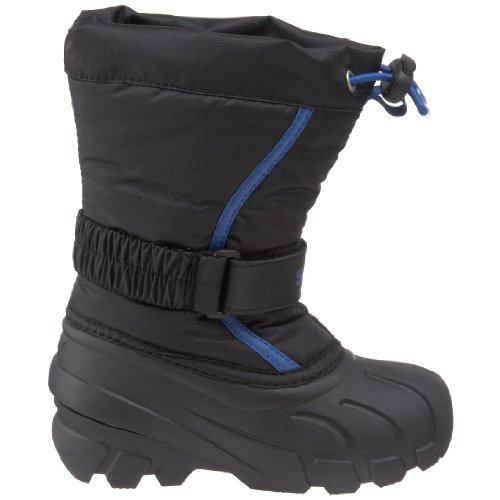 Sorel Flurry TP Winterstiefel Kinderstiefel Schwarz black,bright blue/noir,blue brilliant