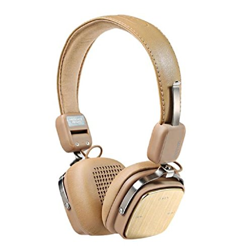 Tiean REMAX 200HB Adjustable Soft Leather AUX Wireless Bluetooth 4.1 Headphone Headset by Tiean