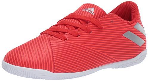 c8ff85311 adidas Unisex Nemeziz 19.4 Indoor Soccer Shoe Active Silver Metallic/Solar  Red, 3.5 M US Big Kid