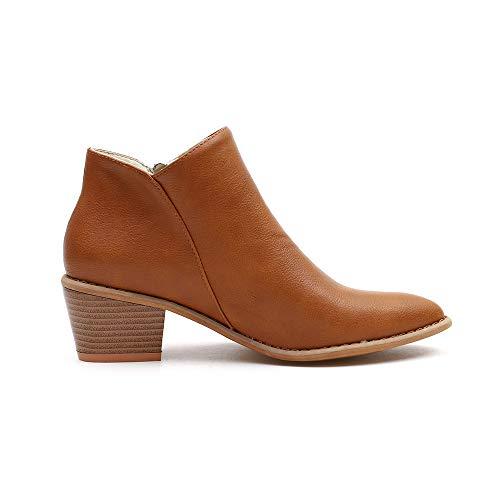 e 5 da donna stivaletto nbsp;autunno taglia 2018 giallo e nbsp; stivali festival Toramo da a 5 heeled popolari caviglia low donna invernali inverno FROqCwx