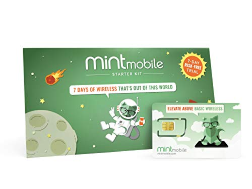 Mint Mobile Starter Kit | Verify Compatibility with Our Talk, Text & Data Plans (3-in-1 GSM SIM Card) from Mint Mobile