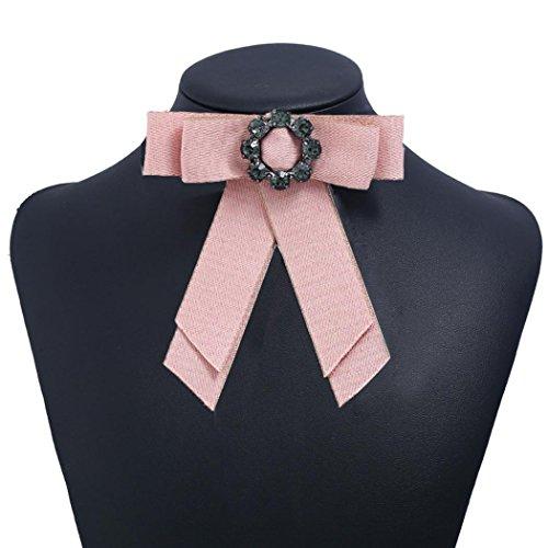 Top Rose Amovible Faux Chemise Femme cooshional 7 de Moiti Blouse Col Uz0WqAw