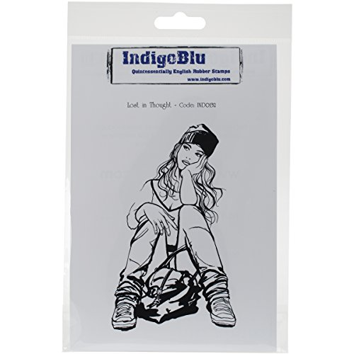 IndigoBlu Cling Mounted STamp, Lost in Thought by IndigoBlu