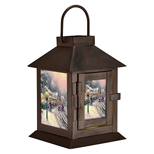 - Mark Feldstein & Associates Led Coach Lantern Thomas Kinkade Village Box, Oil Rubbed Bronze