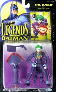 Batman Legends - Kenner DC Comics Legends of Batman The Joker (with Snapping Jaw) Action Figure 5 Inches