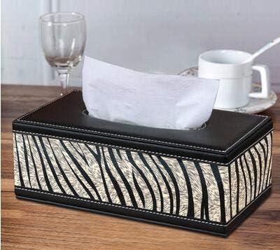PU Leder Tissue Box Letter Faltbarer Serviettenhalter Rechteckiger Haushalts t5b