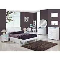 Global Furniture USA Emily 9 Piece Kids' Sleigh Bedroom Set w/ Storage in White