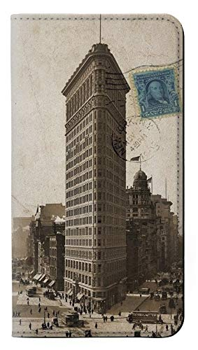 (RW2832 New York 1903 Flatiron Building Postcard PU Leather Flip Case Cover for Samsung Galaxy J7 (2018), J7 Aero, J7 Top, J7 Aura, J7 Crown, J7 Refine, J7 Eon, J7 V 2nd Gen, J7 Star)