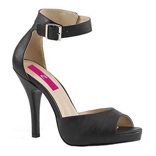 Pleaser Femmes Taille Talons 02 Grande Noir Eve Mat Label Hauts Pink Sandales mN8n0w