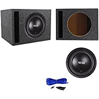 RE Audio SEX10D2 V2 SEXV2 10 750W RMS Car Subwoofer+Vented Sub Box Enclosure