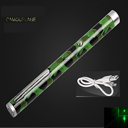 USB Rechargeable Laser Flashlight with Focus Visible Spot Light (USB Rechargeable Green Beam)