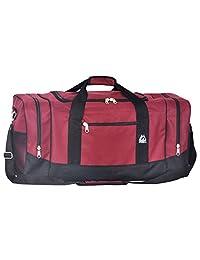 Everest 025-Burg/BK Sporty Gear Bag-Large, Burgundy, One Size