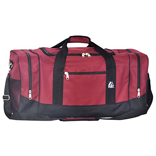 Everest Sporty Travel Duffel Bag, Burgundy