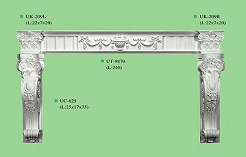 [Fireplace Surround Victorian White Corbel Mantel Beautiful fire place sarround Traditional complete set CR0] (Traditional Mantel)