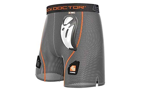 Shock Doctor Youth Core Loose Hockey Shorts with Bio-Flex Cup, XX-Small