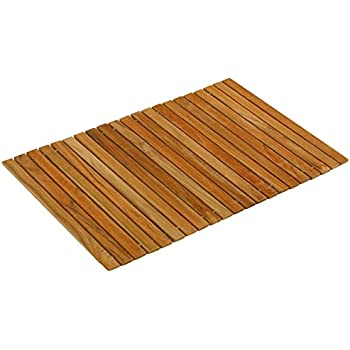 Amazon Com Stylish Wide Slat Bamboo Placemat Dark Brown