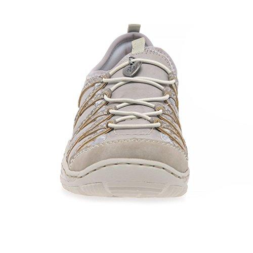 Basses Femme Baskets Rieker L0559 Gris q6faaB