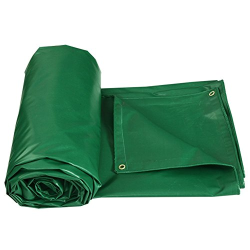LIXIONG Waterproof Tarpaulin Sheet Sun protection Windproof truck protective device Anti-corrosion Protection of low temperatures, thickness 0.4MM, -450 g/m2, 9 sizes (Color : Green, Size : 4x6M) -