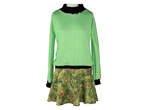 Langarm Grün dunkle Kleid design Schwarz RU8q8w