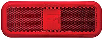 Optronics MC-44RBP Red Rectangular Reflector Marker/Clearance Light