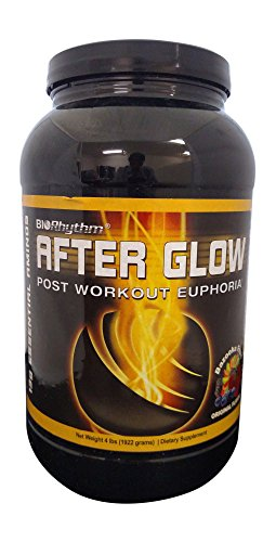 BioRhythm AfterGlow Post Workout Protein Supplement – ORIGINAL FLAVOR - Macronutrient Enhanced Recovery Powder, Build Muscle Faster & Recover More Completely.- Awesome Flavors – Bazooka Fruit 4.24 lbs