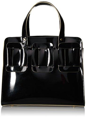 Orla Kiely Glass Leather Linked Margot - Black - One Size
