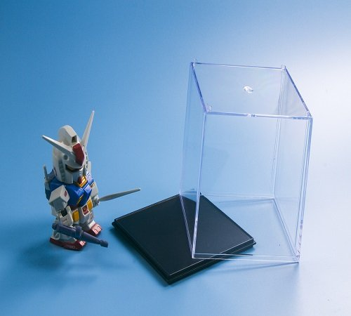 Clear Acrylic Plastic Display Case Perspex Box Dustproof Protection Cube 10cm ()