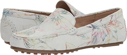 Aerosoles Women's Over Drive Loafer, White Floral, 6.5 W US
