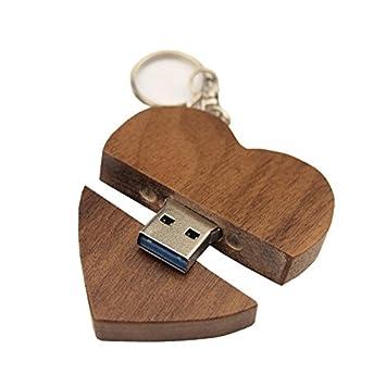 FeliSun Customized Holz Herz USB3.0 Flash Drive Pendrive 64 GB 32 GB 16 GB  High Speed U Festplatte Memory Stick Externe Speicher Fotografie ...