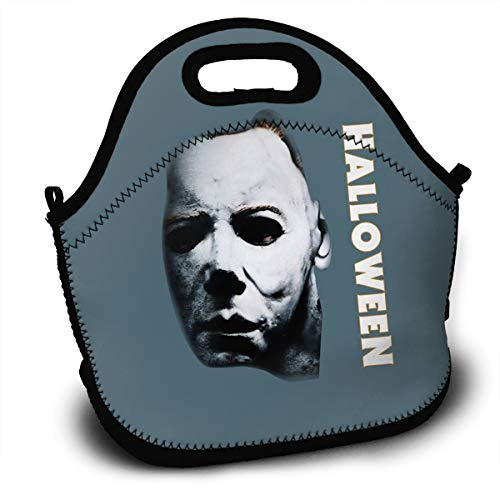 Lunch Bag, Halloween Michael Myers Reusable Lunch Box Food Container Organizer Handbags Tote with Zipper for Men Women Kids -