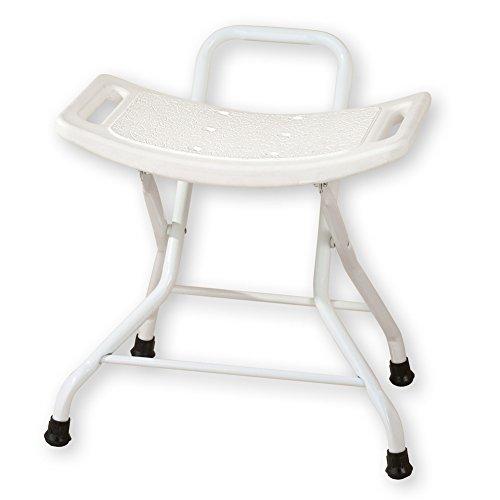 """Folding Bath Bench Seat, White, 20""""L X 15 1/4""""W X 21""""H"""