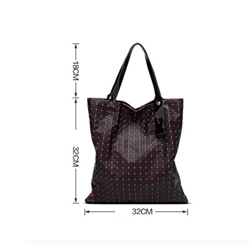 Trendy à gray Ling Bandoulière Version Géométrie 21X21 Sac à Silicone Coréenne Bag Dame Main Pli Sac Triangle 71aqAn8