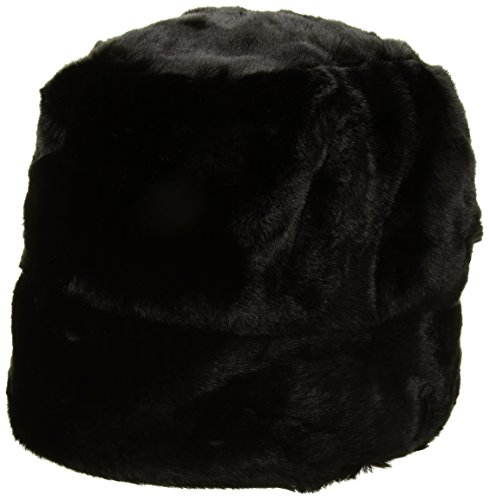 Nine West Women's Faux Fur Cloche Hat, Black, One Size