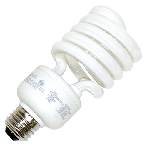 - TCP 801027 27-Watt SpringLight Compact Fluorescent Spiral Light Bulb, 27K Color Temperature