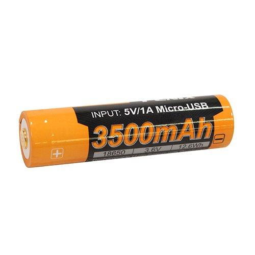 Fenix ARB-L18-3500U Flashlights, Rechargeable Batteries, 18650 (3.6V) 3500U mAh USB
