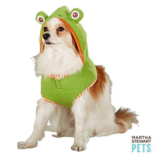 Martha Stewart Halloween Costumes For Dogs (Martha Stewart Pets Frog Hoodie Harness Halloween dog Costume)