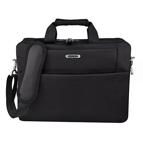 Tzowla15.6 Inch Laptop Bag, Messenger Bag Business Briefcase for Men Women Anti Theft Bag with Combination Lock Water Resistant Hand Bag for Laptop /HP/Acer/Macbook /Asus/ Lenovo (Black)