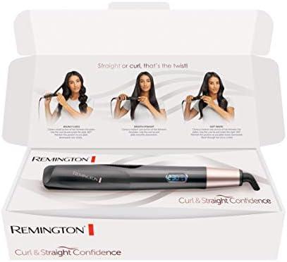 Remington S6606B Fer à Lisser, Fer à Boucler, Lisseur, Boucleur Curl&Straight Confidence, Advanced Ceramic, Tourmaline, Antistatique (Exclusivité