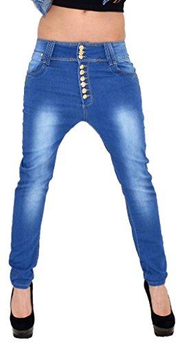 ESRA Damen Jeans Boyfriend Baggyjeans Baggy Jeanshosen in 3 Aktuellen Designs Typ-j15