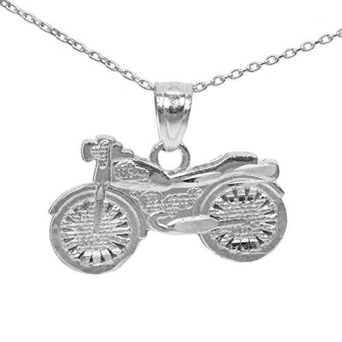 925 Sterling Silver Motorcycle Pendant (18